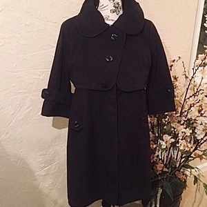 Nordstrom Double Breasted Half Sleeve Trench Coat